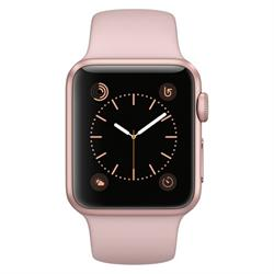 APPLE WATCH (SERIES 1) 38MM ROSE GOLD ALUMINUM CASE WITH PINK SAND SPORT BAND